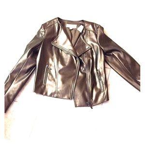 Michael Michael Kors bronze moto jacket. NWT